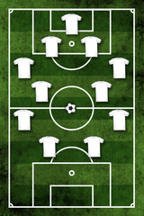 Four-four-two formation