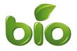 Bio sign with leaf