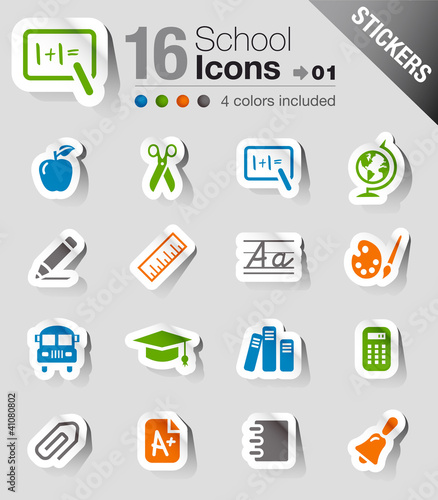 Stickers -  School Icons