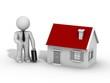 Vendeur de maison 3d