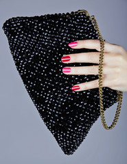 pink and red manicure
