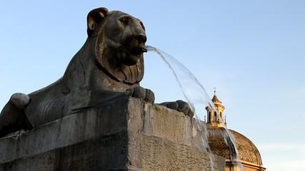 Fontana dei Leoni - Piazza del Popolo (Roma)