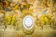 Detail of the fresco in the St. Charles's Church (Karlskirche) i