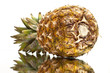 ripe pineapple with reflection