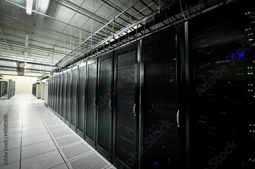 Leinwanddruck Bild Data center