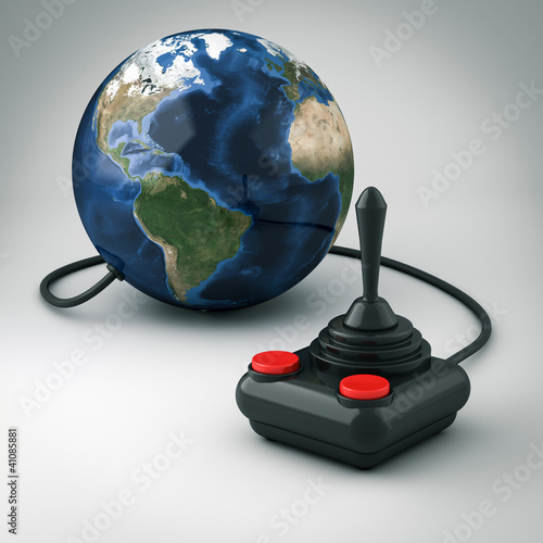 Joystick connected to the world
