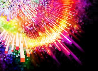 lighting explosion