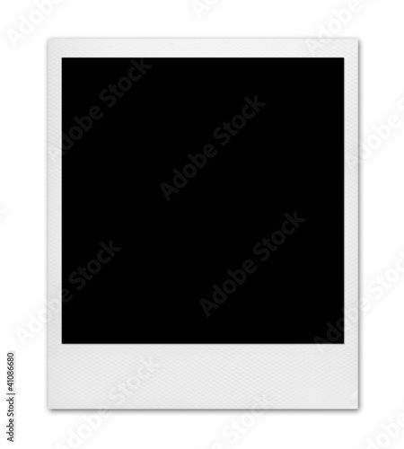 instant photo isolated on white