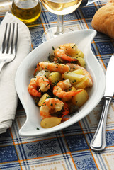 Gamberi e patate Shrimps and potatoes