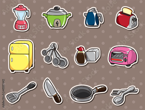 cartoon kitchen stickers
