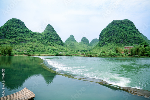 beautiful rural scenery in yangshuo