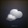 Techno clouds background