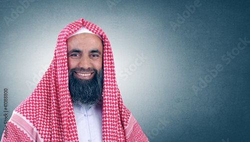 Islamic Arabian Sheikh with beard posing
