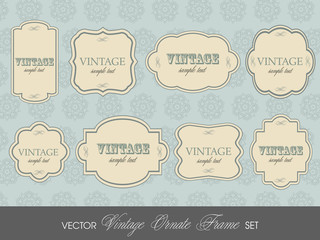 Set of elegant but simple colorful RETRO labels - easy editable.