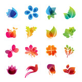 Fototapety Colorful nature icon set