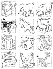 cartoon wild animals collection