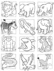 cartoon wild animals collection