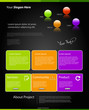 modern color website template set