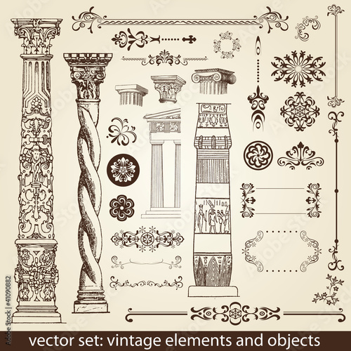 vintage elements - antique - vector