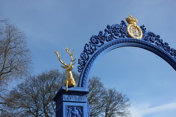 Entrance of Djurgarden island near Skansen park, Stockholm