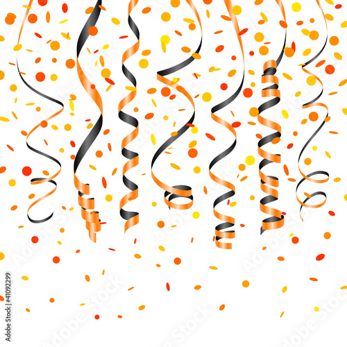 7 Streamer & Confetti Halloween Orange/Black