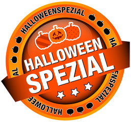 "Button Banner ""Halloweenspezial"" orange"
