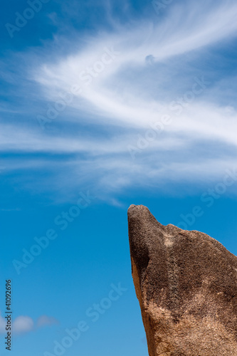 A rock and a cloud