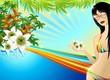 Ragazza Vacanze ai Tropici-Young Girl Summer Holidays