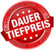 """Button Banner """"Dauertiefpreis"""" rot"""