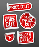Price cut sale stickers