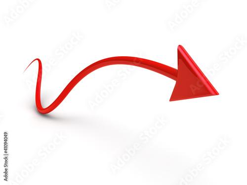 arrow in business graph 3d render