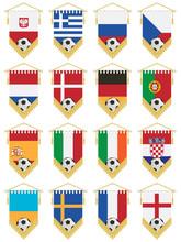 Proporczyki flagi piłkarskie