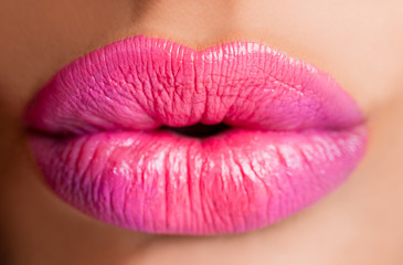 Female lips pink