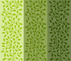 Floral pattern with ilex. Decorative background