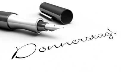 Donnerstag - Stift Konzept