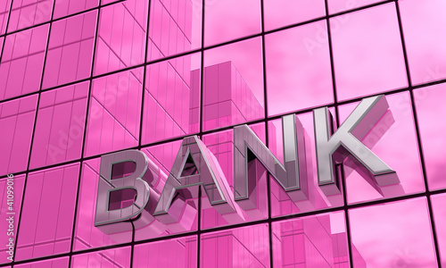 Spiegelfassade Pink - Bank Konzept 2