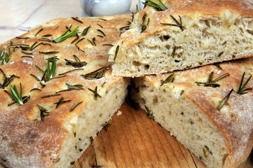 Homemade rosemary Focaccia bread © Arena Photo UK