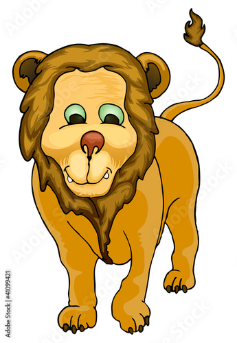 cute lion isolated in white