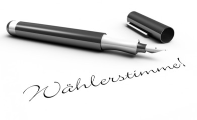 Wählerstimme! - Stift Konzept
