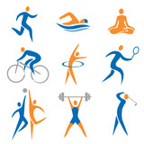 Fototapety Sport icons