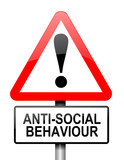 Anti-social behaviour warning. poster