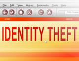 Identity theft concept. poster
