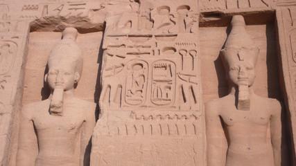 Templo de Nefertari en Abu Simbel, Egipto.