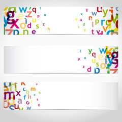 bannières avec lettres