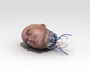 cabeza de androide