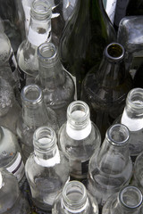 Glass Bottles Ready for Collection