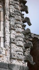 Detalle de las ruinas mayas de Uxmal, Yucatán, México