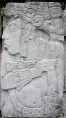 Escultura. Ruinas de Palenque. Chiapas. México.