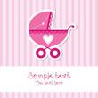 Bright baby girl card
