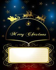 Santa's Sleigh, illustration card